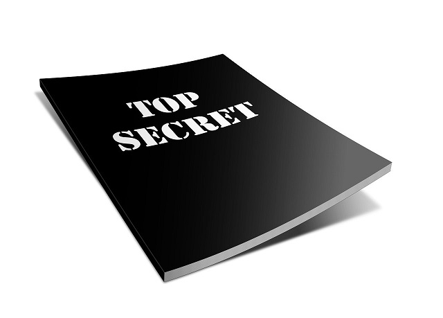 black file with the name top secret