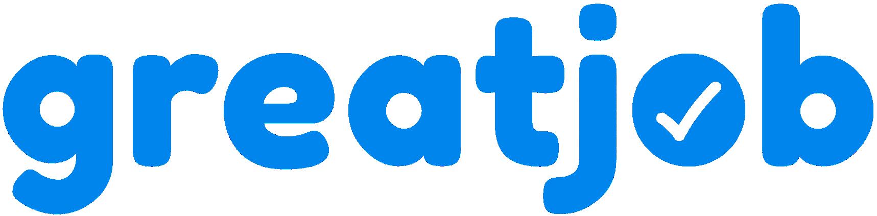 logo greatjob blue text